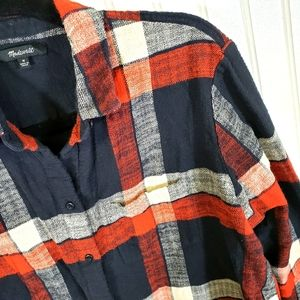Made well Red and Navy Flannel